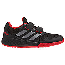 Buy Adidas Children's Alta Run CF Rip Tape Trainers, Black/Red Online at johnlewis.com