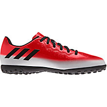Buy Adidas Children's Messi 16.4 TF Trainers, Red/White Online at johnlewis.com
