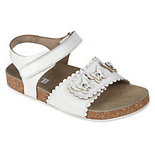 Buy John Lewis Children's Butterfly Footbed Sandals, White Online at johnlewis.com