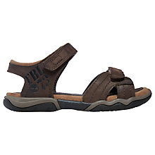 Buy Timberland Children's Oak Bluffs Leather Sandals, Brown Online at johnlewis.com