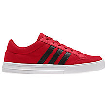 Buy Adidas Children's VS Set Lace-Up Sports Shoes, Red Online at johnlewis.com