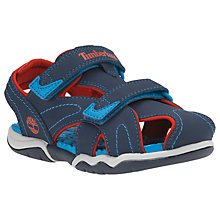 Buy Timberland Children's Adventure Seeker Closed Toe Rip-Tape Sandals, Navy Online at johnlewis.com