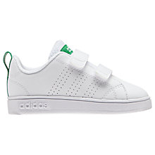 Buy Adidas Children's VS Advantage Double Riptape Trainers, White Online at johnlewis.com