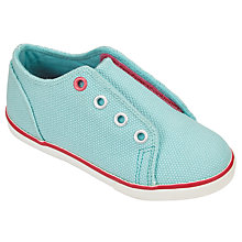 Buy John Lewis Children's Coco Double Rip-Tape Trainers, Turquoise Online at johnlewis.com