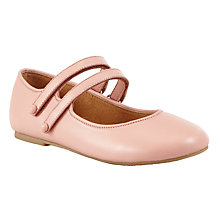 Buy John Lewis Heirloom Collection Children's Evie Double Strap Mary-Jane Leather Shoes, Pink Online at johnlewis.com