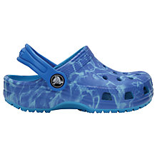 Buy Crocs Children's Water Graphic Classic Croc Clogs, Blue Online at johnlewis.com