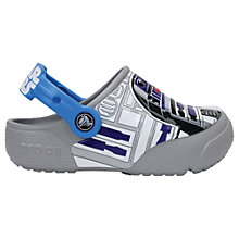Buy Crocs Children's Funlab Star Wars R2D2 Clogs, Blue Online at johnlewis.com