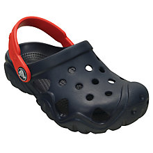 Buy Crocs Children's Swiftwater Clogs, Navy Online at johnlewis.com