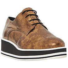 Buy Dune Black Flight Flatform Brogues, Bronze Online at johnlewis.com