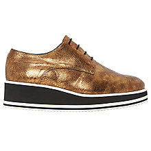 Buy Dune Black Flight Flatform Brogues Online at johnlewis.com