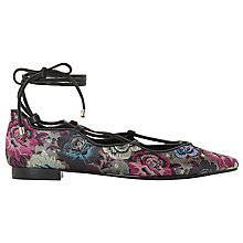 Buy Dune Hariana Lace Up Ballet Pumps, Multi Online at johnlewis.com