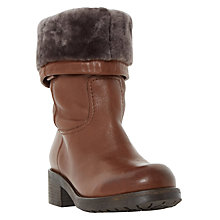 Buy Dune Roderik Leather Calf Boots, Brown Online at johnlewis.com