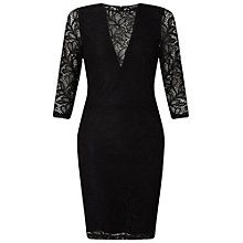 Buy Miss Selfridge Lace Bodycon Dress, Black Online at johnlewis.com