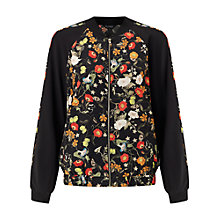Buy Miss Selfridge Poppy Print Bomber Jacket, Multi Online at johnlewis.com