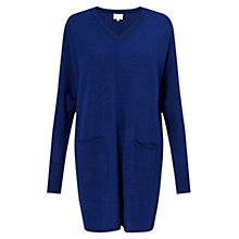 Buy East Merino V-Neck Jumper, Cobalt Online at johnlewis.com