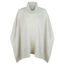 Buy Hobbs Alya Poncho, Grey Melange Online at johnlewis.com