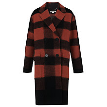 Buy Whistles Nico Check Pea Coat, Multi Online at johnlewis.com