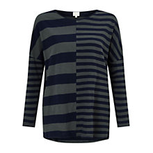Buy East Combination Colour Block Top, Grey Online at johnlewis.com