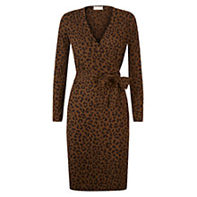 Buy Hobbs Laila Dress, Khaki/Chocolate Online at johnlewis.com