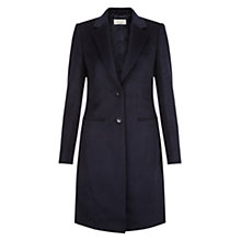 Buy Hobbs Tilda Wool Coat, Navy Online at johnlewis.com