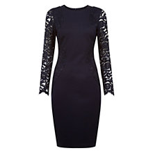 Buy Hobbs Laurel Dress, Navy Online at johnlewis.com