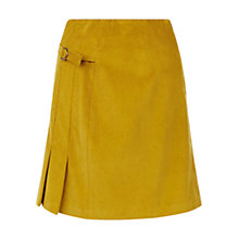 Buy Hobbs Judith Cord Skirt, Moss Green Online at johnlewis.com