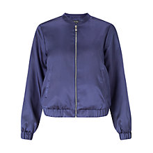 Buy Miss Selfridge Satin Bomber Jacket Online at johnlewis.com