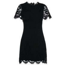 Buy Whistles Arabella Lace Dress, Black Online at johnlewis.com