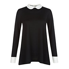 Buy Hobbs Connie Jumper, Black/Ivory Online at johnlewis.com
