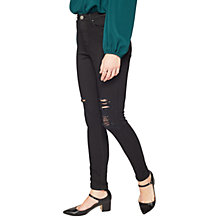 Buy Miss Selfridge Lizzie Distressed Jeans, Black Online at johnlewis.com