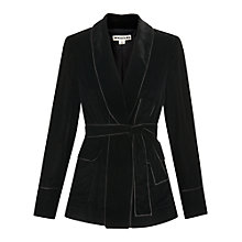 Buy Whistles Velvet Wrap Jacket, Black Online at johnlewis.com
