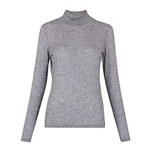 Buy Whistles Wool Mix Jersey Polo Neck Jumper, Grey Marl Online at johnlewis.com