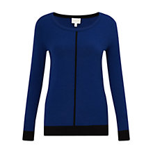 Buy East Neat Seam Detail Jumper, Cobalt Online at johnlewis.com