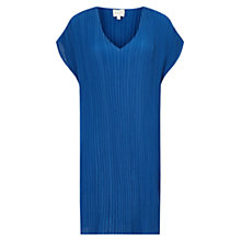 Buy East V Neck Pleat Tunic Dress, Cobalt Online at johnlewis.com