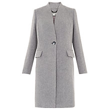 Buy Whistles Aniko Collarless Coat, Grey Online at johnlewis.com