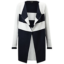 Buy Miss Selfridge Stripe Knitted Coatigan, Navy/Grey Online at johnlewis.com