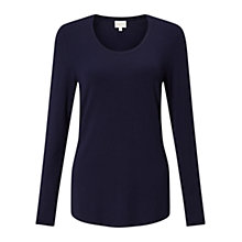 Buy East Scoop Neck Jersey Top, Sapphire Online at johnlewis.com