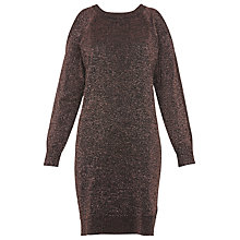 Buy Whistles Split Shoulder Sparkle Dress, Pale Pink Online at johnlewis.com