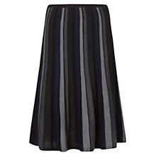 Buy East Merino Stripe Skirt, Slate Online at johnlewis.com