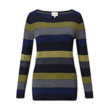 Buy East Merino Multi Stripe Jumper, Slate Online at johnlewis.com