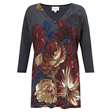 Buy East Rose Print Knit Jumper, Slate Online at johnlewis.com