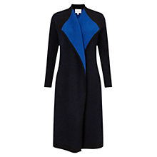 Buy East Waterfall Boiled Wool Coat, Sapphire Online at johnlewis.com