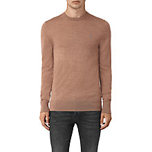Buy AllSaints Mode Merino Crew Jumper, Fig Pink Online at johnlewis.com