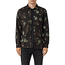 Buy AllSaints Abilene Shirt, Washed Black Online at johnlewis.com