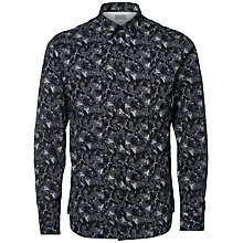 Buy Selected Homme Fall Allover Print Slim Fit Shirt, Ombre Blue Online at johnlewis.com