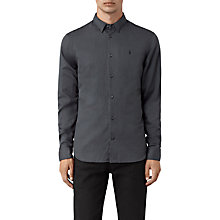Buy AllSaints Hermosa Long Sleeve Shirt, Workers Blue Online at johnlewis.com