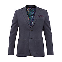 Buy Ted Baker Memphis Mini Design Jersey Blazer, Navy Online at johnlewis.com