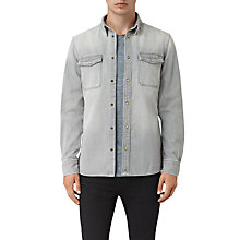 Buy AllSaints Ardno Shirt, Grey Online at johnlewis.com