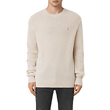 Buy AllSaints Lymore Crew Neck Jumper, Ecru Online at johnlewis.com
