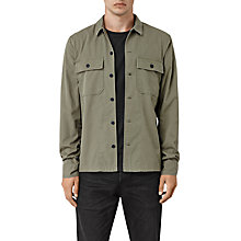 Buy AllSaints Fearnot Shirt, Light Khaki Green Online at johnlewis.com